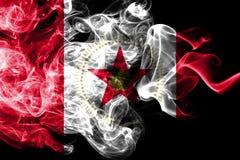 Σημαία καπνού πόλεων του Μπέρμιγχαμ, κράτος της Αλαμπάμα, Ηνωμένες Πολιτείες της Αμερικής ελεύθερη απεικόνιση δικαιώματος