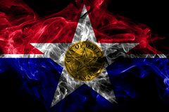 Σημαία καπνού πόλεων του Ντάλλας, κράτος του Ιλλινόις, Ηνωμένες Πολιτείες της Αμερικής ελεύθερη απεικόνιση δικαιώματος