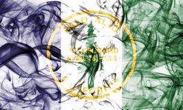 Σημαία καπνού πόλεων του Πάλο Άλτο, κράτος Καλιφόρνιας, Ηνωμένες Πολιτείες της Αμερικής Στοκ Εικόνα