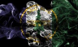 Σημαία καπνού πόλεων του Πάλο Άλτο, κράτος Καλιφόρνιας, Πολιτεία του AM Στοκ φωτογραφία με δικαίωμα ελεύθερης χρήσης