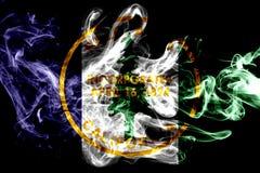 Σημαία καπνού πόλεων του Πάλο Άλτο, κράτος Καλιφόρνιας, Πολιτεία του AM Ελεύθερη απεικόνιση δικαιώματος
