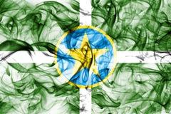 Σημαία καπνού πόλεων του Τζάκσον, κράτος του Μισισιπή, Ηνωμένες Πολιτείες της Αμερικής Στοκ Φωτογραφίες