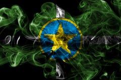 Σημαία καπνού πόλεων του Τζάκσον, κράτος του Μισισιπή, Πολιτεία Ame Στοκ εικόνες με δικαίωμα ελεύθερης χρήσης