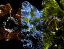 Σημαία καπνού πόλεων του Φρέσνο, κράτος Καλιφόρνιας, Πολιτεία Ameri Στοκ φωτογραφίες με δικαίωμα ελεύθερης χρήσης