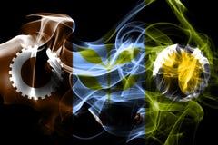 Σημαία καπνού πόλεων του Φρέσνο, κράτος Καλιφόρνιας, Πολιτεία Ameri ελεύθερη απεικόνιση δικαιώματος