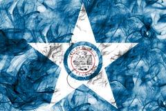 Σημαία καπνού πόλεων του Χιούστον, κράτος του Τέξας, Ηνωμένες Πολιτείες της Αμερικής στοκ εικόνες