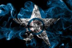 Σημαία καπνού πόλεων του Χιούστον, κράτος του Τέξας, Ηνωμένες Πολιτείες της Αμερικής στοκ φωτογραφία με δικαίωμα ελεύθερης χρήσης