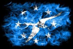 Σημαία καπνού πόλεων του Corpus Christi, κράτος του Τέξας, Ηνωμένες Πολιτείες της Αμερικής Στοκ φωτογραφία με δικαίωμα ελεύθερης χρήσης
