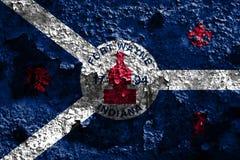 Σημαία καπνού πόλεων του Wayne οχυρών, κράτος της Ιντιάνα, Πολιτεία Amer Στοκ φωτογραφία με δικαίωμα ελεύθερης χρήσης
