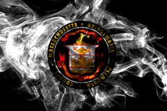 Σημαία καπνού πόλεων Bridgewater, κράτος της Μασαχουσέτης, Ηνωμένες Πολιτείες της Αμερικής διανυσματική απεικόνιση