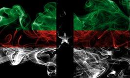 Σημαία καπνού πόλεων Denison, κράτος του Τέξας, Ηνωμένες Πολιτείες της Αμερικής Στοκ Εικόνες
