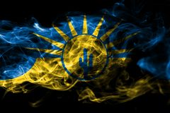 Σημαία καπνού πόλεων Mesa, κράτος της Αριζόνα, Ηνωμένες Πολιτείες της Αμερικής στοκ φωτογραφίες με δικαίωμα ελεύθερης χρήσης