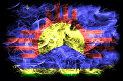 Σημαία καπνού πόλεων Roswell, κράτος Νέων Μεξικό, Ηνωμένες Πολιτείες της Αμερικής Στοκ φωτογραφίες με δικαίωμα ελεύθερης χρήσης