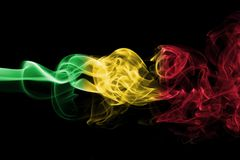 Σημαία καπνού του Μαλί Στοκ Εικόνα
