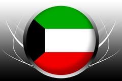 σημαία Κουβέιτ απεικόνιση αποθεμάτων