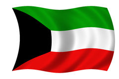 σημαία Κουβέιτ ελεύθερη απεικόνιση δικαιώματος