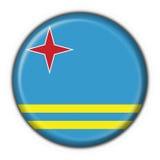σημαία κουμπιών του Aruba γύρω &a Στοκ φωτογραφίες με δικαίωμα ελεύθερης χρήσης