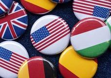 σημαία κουμπιών Στοκ εικόνα με δικαίωμα ελεύθερης χρήσης