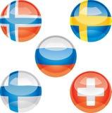 σημαία κουμπιών Στοκ φωτογραφία με δικαίωμα ελεύθερης χρήσης