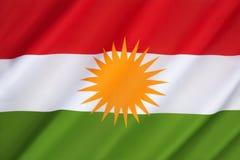 Σημαία Κουρδιστάν Στοκ Φωτογραφίες