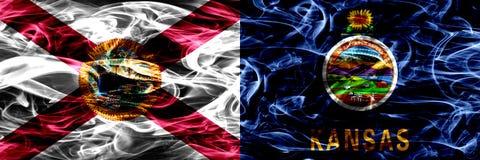 Σημαία κρατικού καπνού του Κάνσας, Ηνωμένες Πολιτείες της Αμερικής στοκ φωτογραφίες