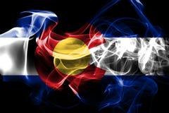 Σημαία κρατικού καπνού του Κολοράντο, Ηνωμένες Πολιτείες της Αμερικής απεικόνιση αποθεμάτων