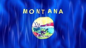 Σημαία κρατικού Loopable της Μοντάνα απεικόνιση αποθεμάτων