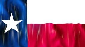 Σημαία κρατικού Loopable του Τέξας απεικόνιση αποθεμάτων