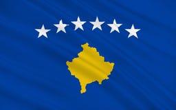 σημαία Κόσοβο απεικόνιση αποθεμάτων