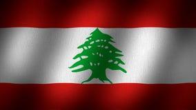 σημαία Λίβανος απόθεμα βίντεο