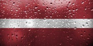 σημαία Λετονία Στοκ Φωτογραφίες