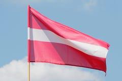 σημαία Λετονία Στοκ Εικόνες