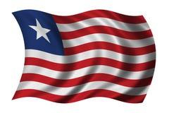 σημαία Λιβερία διανυσματική απεικόνιση