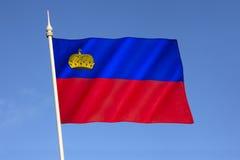 σημαία Λιχτενστάιν Στοκ εικόνα με δικαίωμα ελεύθερης χρήσης