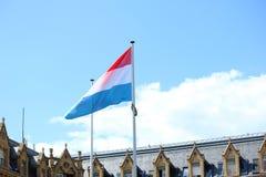 σημαία Λουξεμβούργο Στοκ Φωτογραφίες