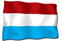 σημαία Λουξεμβούργο Στοκ Φωτογραφία