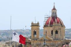 σημαία Μάλτα Στοκ Εικόνα