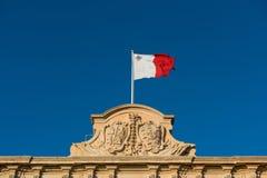 σημαία Μάλτα Στοκ φωτογραφία με δικαίωμα ελεύθερης χρήσης