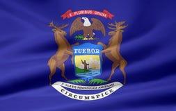 σημαία Μίτσιγκαν Στοκ Εικόνες