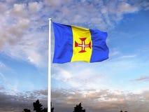 Σημαία Μαδέρα Πορτογαλία Στοκ φωτογραφία με δικαίωμα ελεύθερης χρήσης