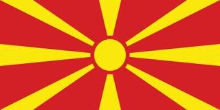 σημαία Μακεδονία Στοκ Εικόνες
