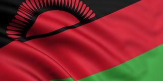 σημαία Μαλάουι Στοκ Εικόνες