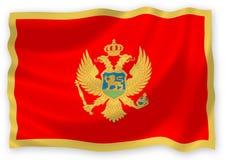 σημαία Μαυροβούνιο Στοκ εικόνα με δικαίωμα ελεύθερης χρήσης