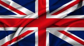 σημαία μεγάλο UK της Μεγάλης Βρετανίας Στοκ Φωτογραφίες