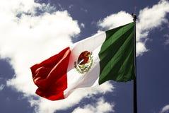 σημαία μεξικανός Στοκ εικόνα με δικαίωμα ελεύθερης χρήσης