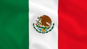 σημαία Μεξικό διανυσματική απεικόνιση