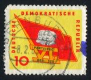 Σημαία με Marx Στοκ φωτογραφία με δικαίωμα ελεύθερης χρήσης