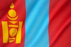 σημαία Μογγολία Στοκ φωτογραφίες με δικαίωμα ελεύθερης χρήσης