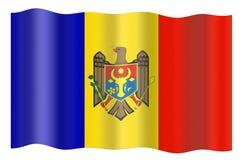 σημαία Μολδαβία Στοκ Φωτογραφίες