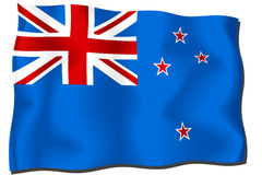 σημαία Νέα Ζηλανδία Στοκ Φωτογραφία